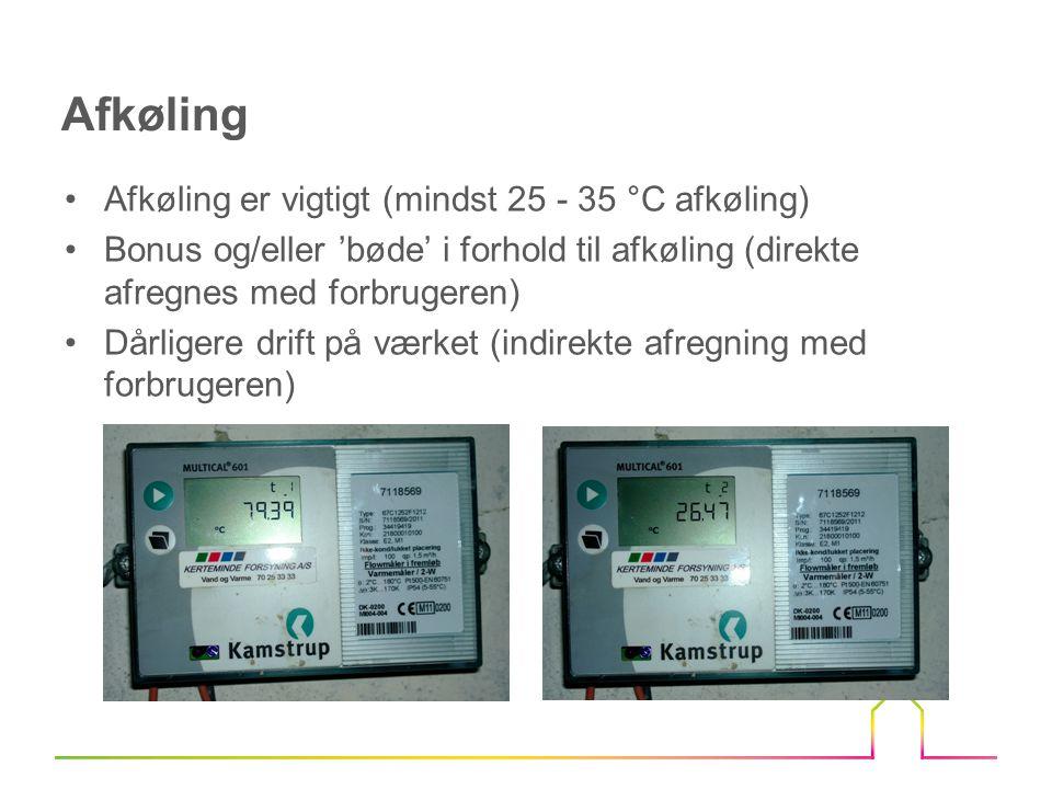 Afkøling Afkøling er vigtigt (mindst 25 - 35 °C afkøling)
