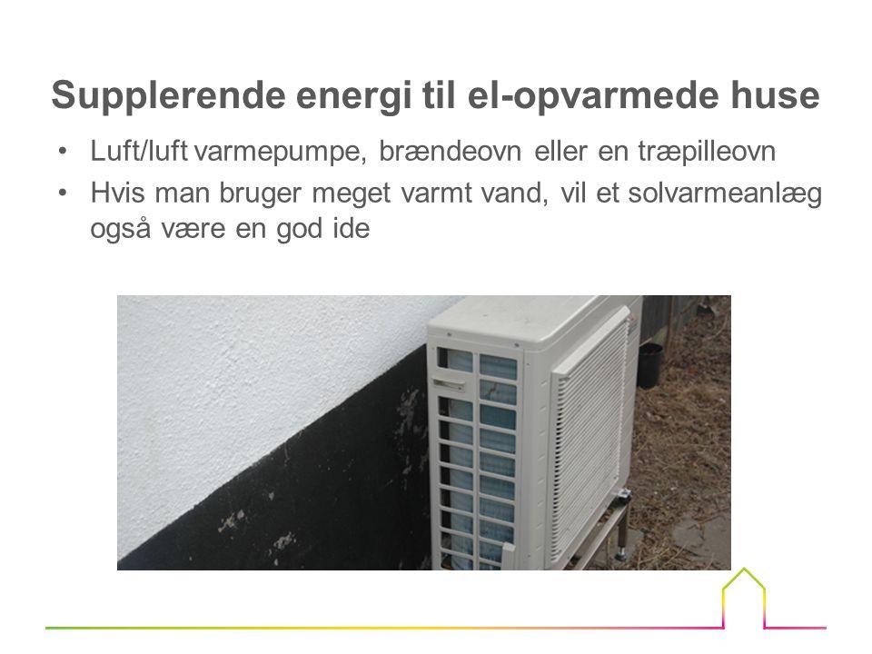 Supplerende energi til el-opvarmede huse