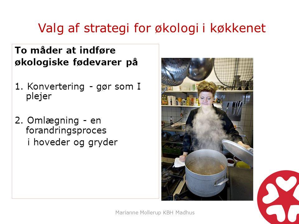 Valg af strategi for økologi i køkkenet