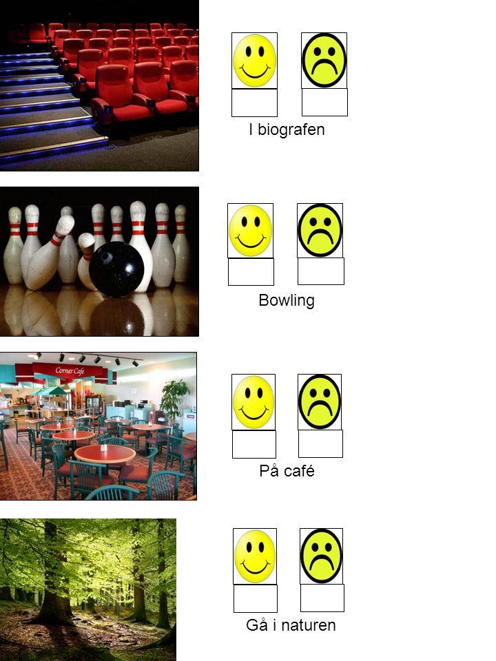 I biografen Bowling På café Gå i naturen
