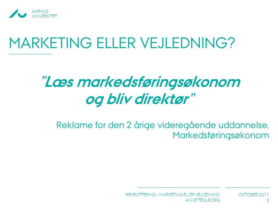 Marketing eller vejledning