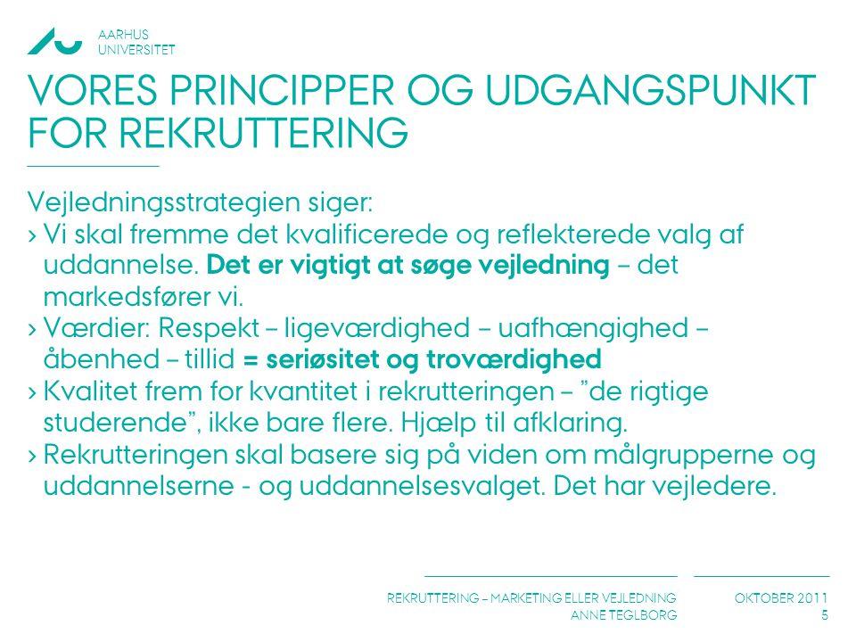 Vores principper og udgangspunkt for rekruttering