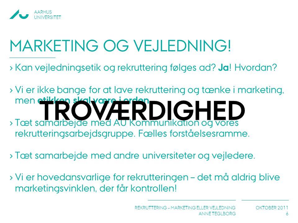 Marketing og vejledning!