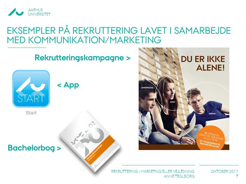 Eksempler på rekruttering lavet i samarbejde med kommunikation/marketing