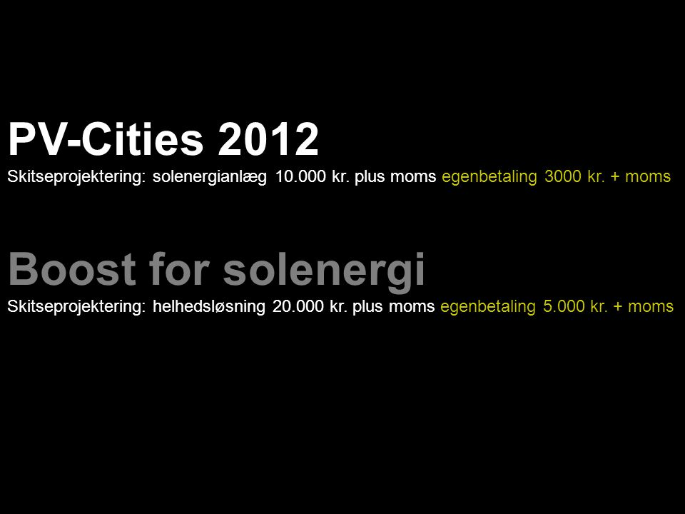 PV-Cities 2012 Boost for solenergi