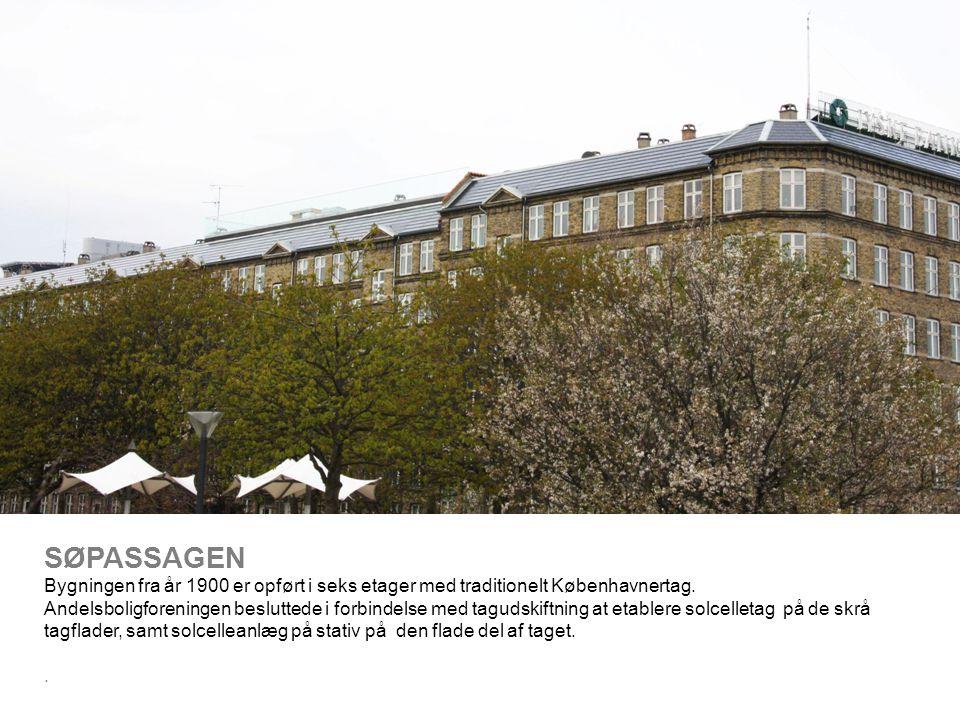 SØPASSAGEN Bygningen fra år 1900 er opført i seks etager med traditionelt Københavnertag.