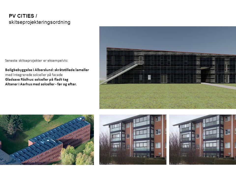 PV CITIES / skitseprojekteringsordning