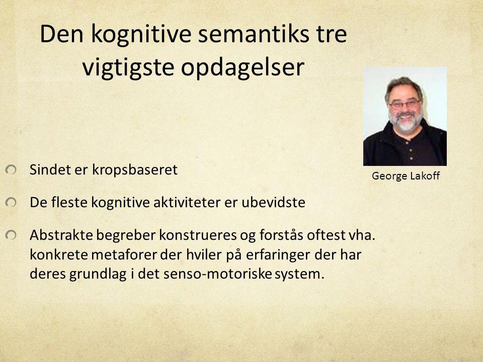 Den kognitive semantiks tre vigtigste opdagelser