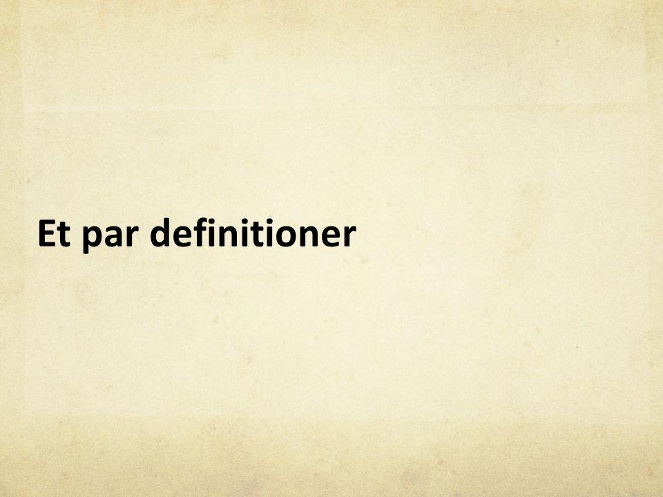 Et par definitioner