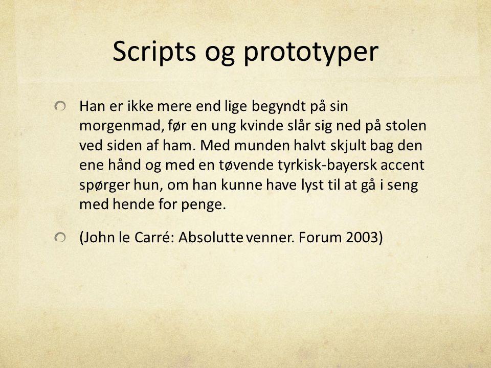 Scripts og prototyper