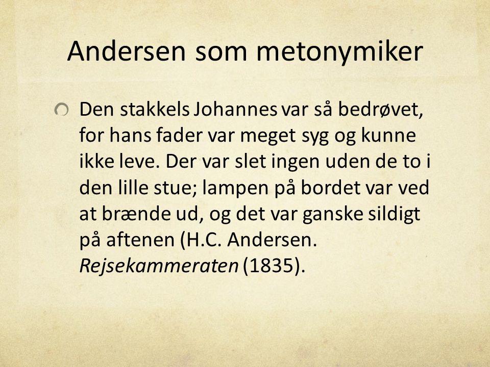Andersen som metonymiker