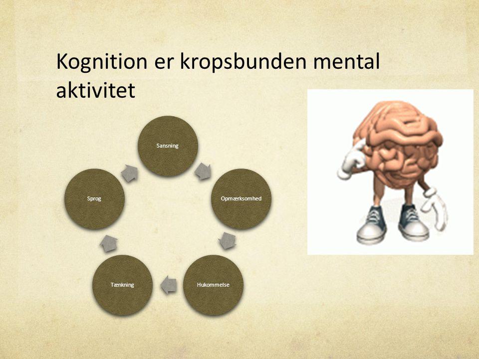 Kognition er kropsbunden mental aktivitet