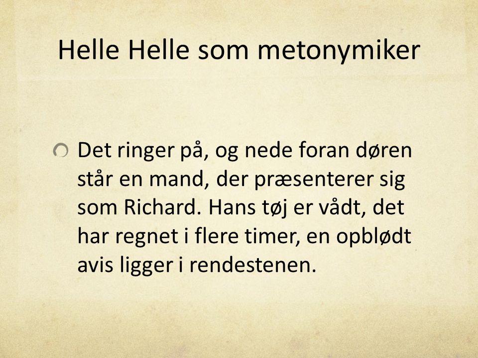 Helle Helle som metonymiker