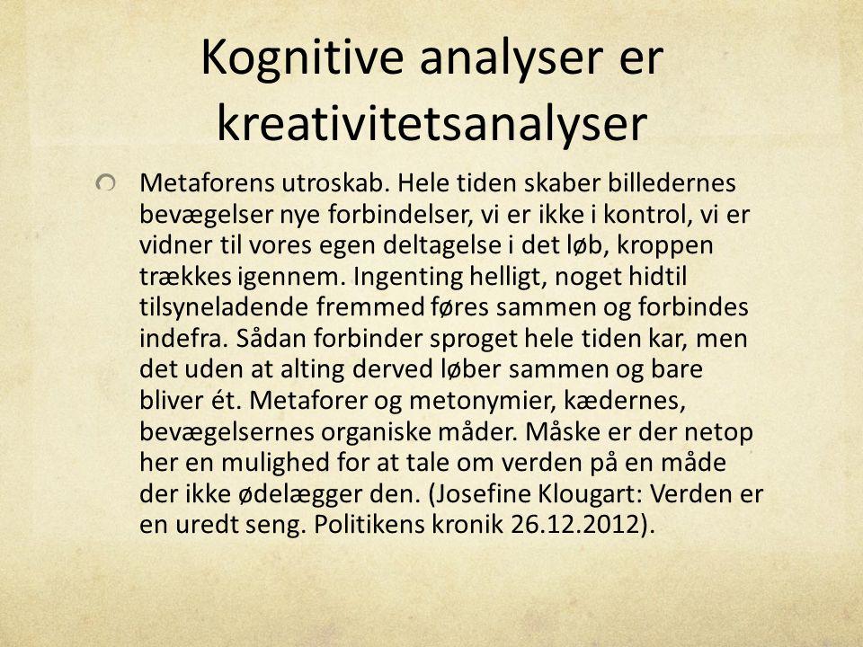 Kognitive analyser er kreativitetsanalyser