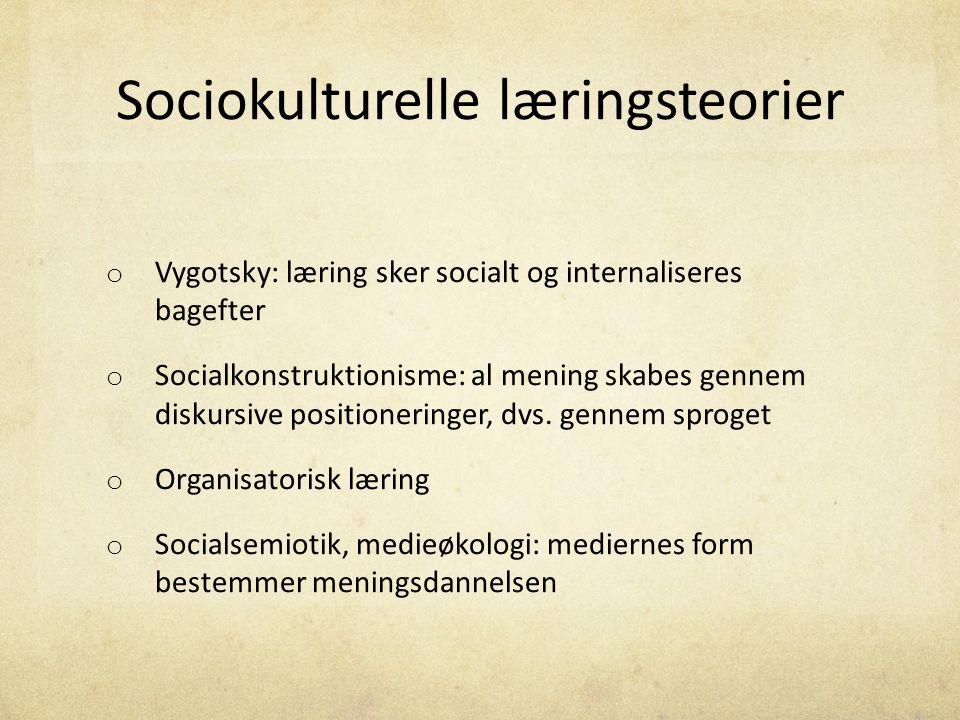 Sociokulturelle læringsteorier