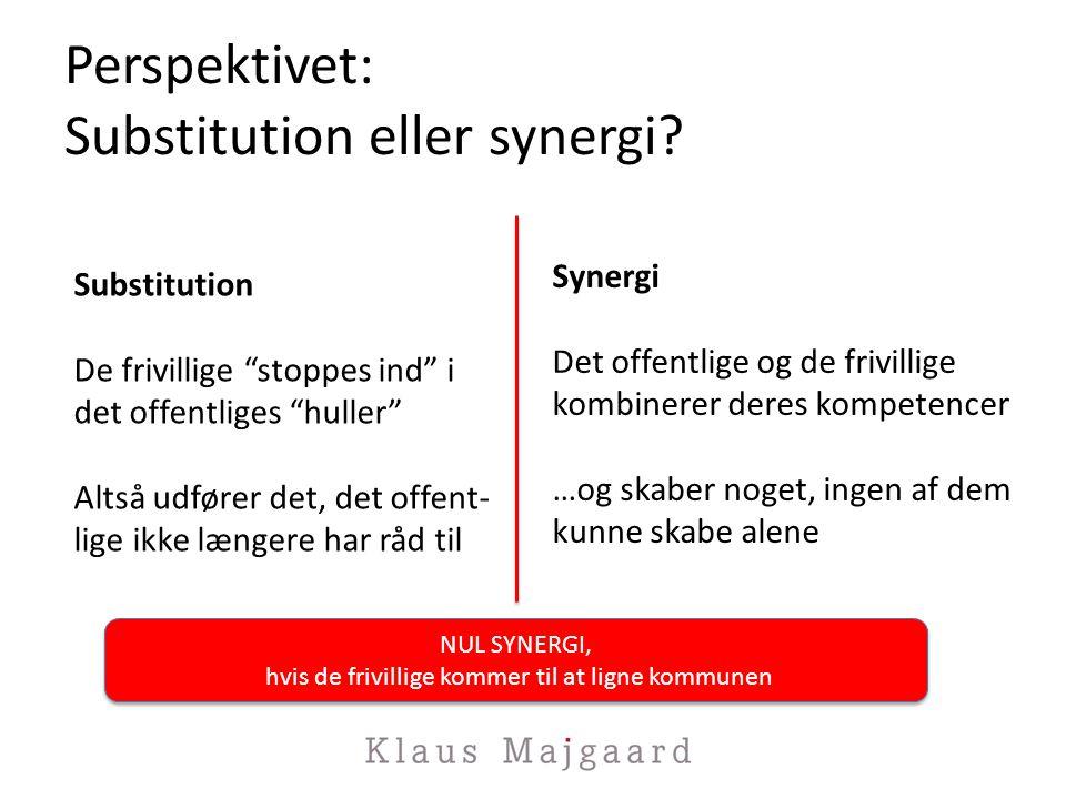 Perspektivet: Substitution eller synergi