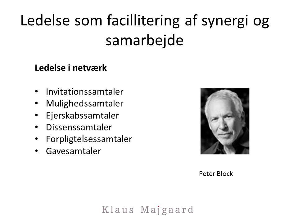 Ledelse som facillitering af synergi og samarbejde