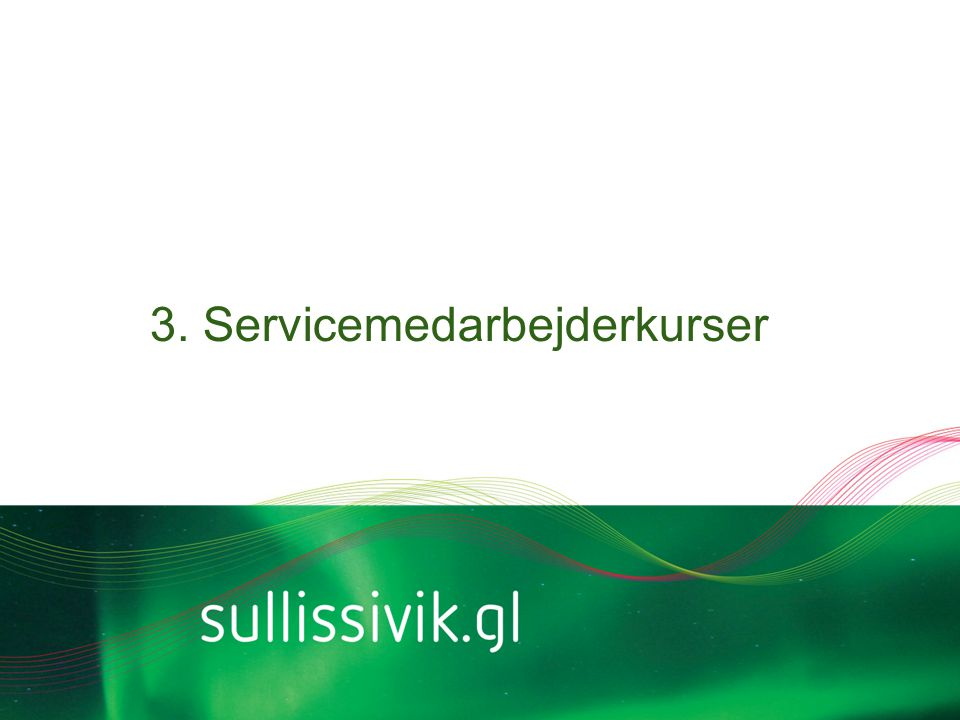 3. Servicemedarbejderkurser