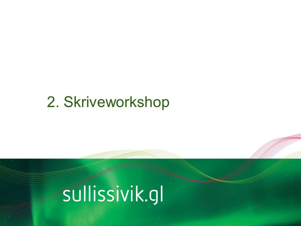 2. Skriveworkshop