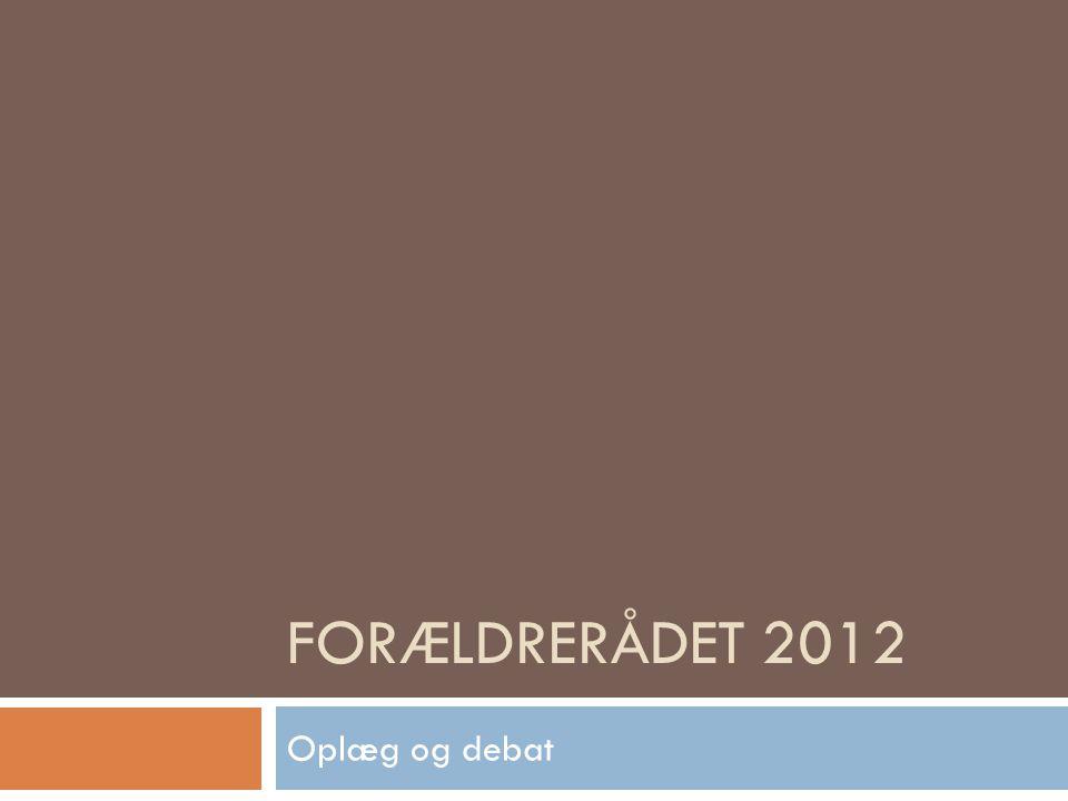 Forældrerådet 2012 Oplæg og debat