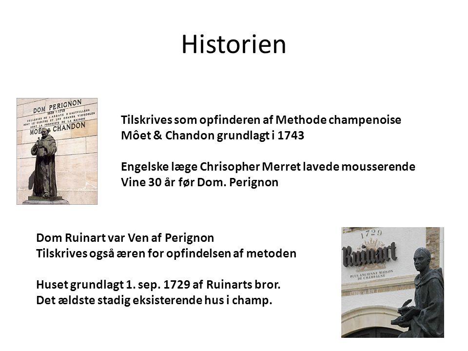 Historien Tilskrives som opfinderen af Methode champenoise