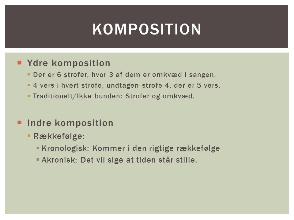 Komposition Ydre komposition Indre komposition Rækkefølge:
