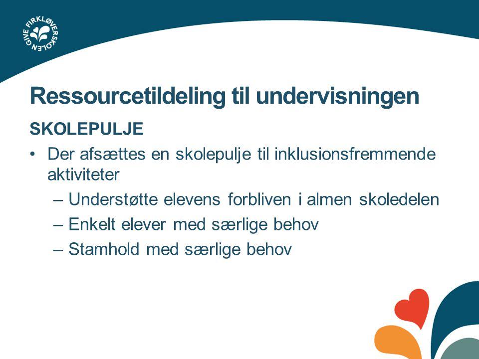Ressourcetildeling til undervisningen