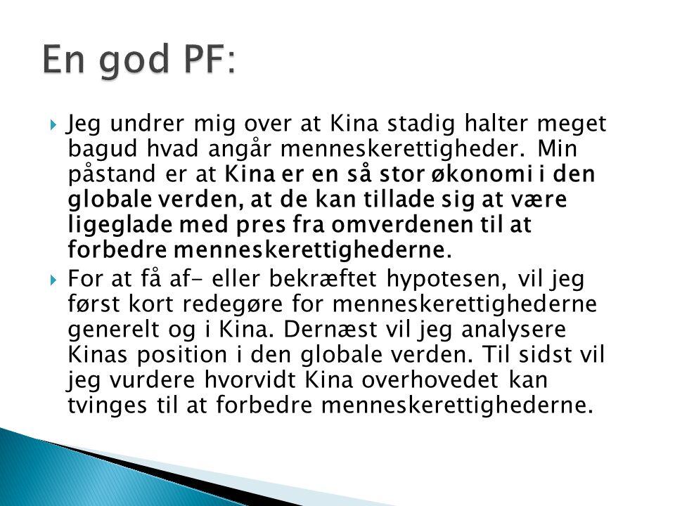 En god PF: