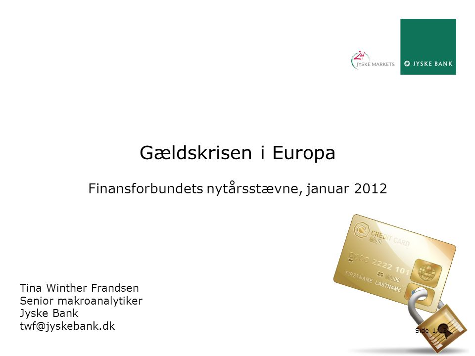 Finansforbundets nytårsstævne, januar 2012