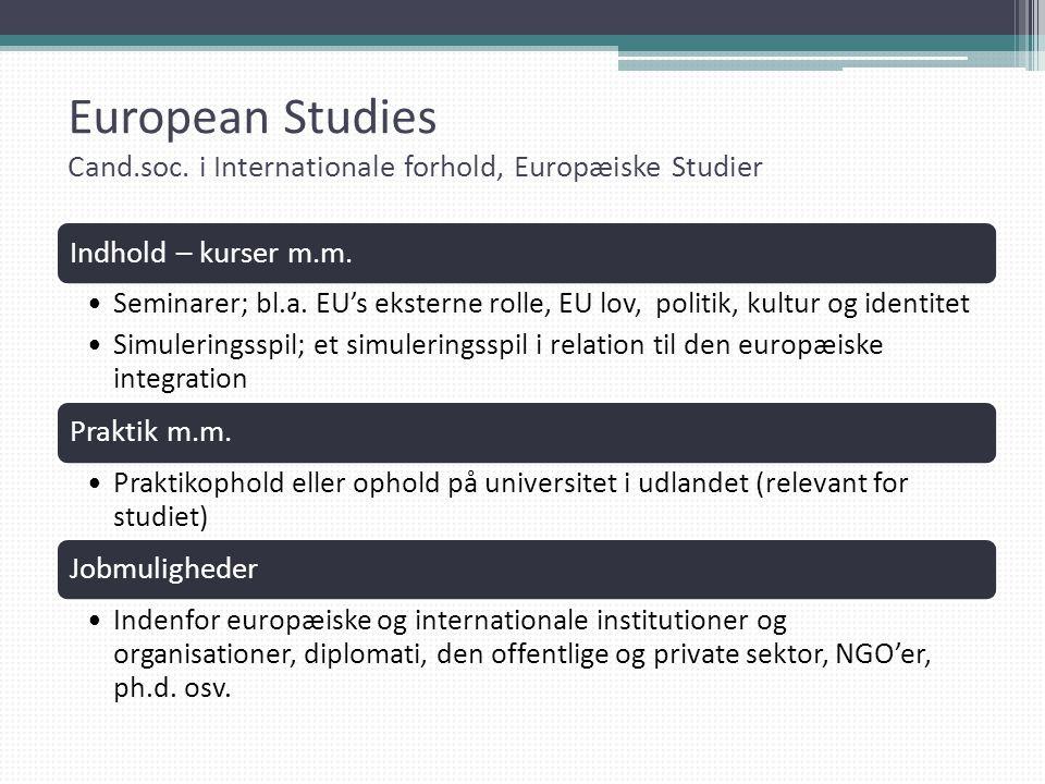 European Studies Cand. soc