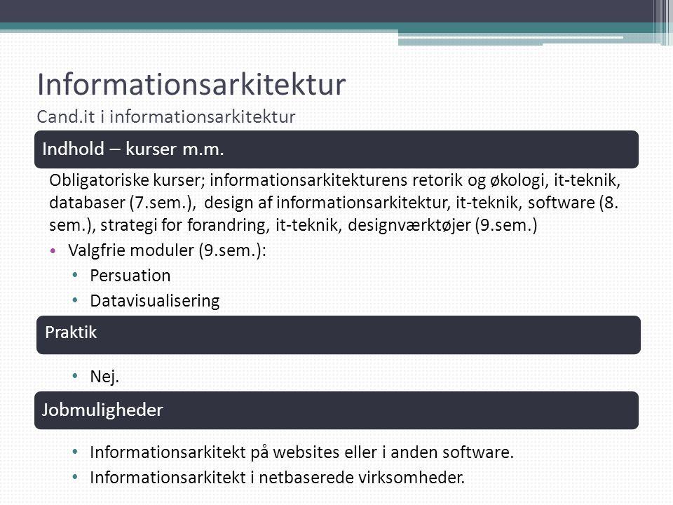 Informationsarkitektur Cand.it i informationsarkitektur
