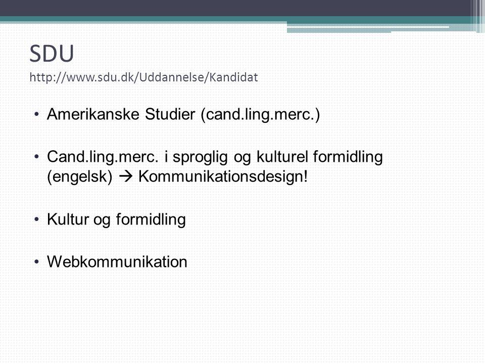 SDU http://www.sdu.dk/Uddannelse/Kandidat