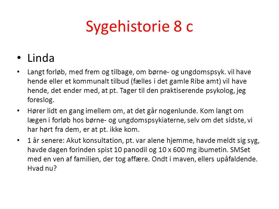 Sygehistorie 8 c Linda.