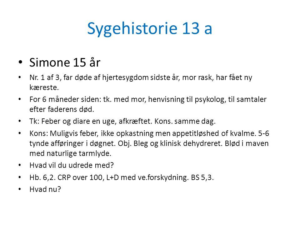 Sygehistorie 13 a Simone 15 år
