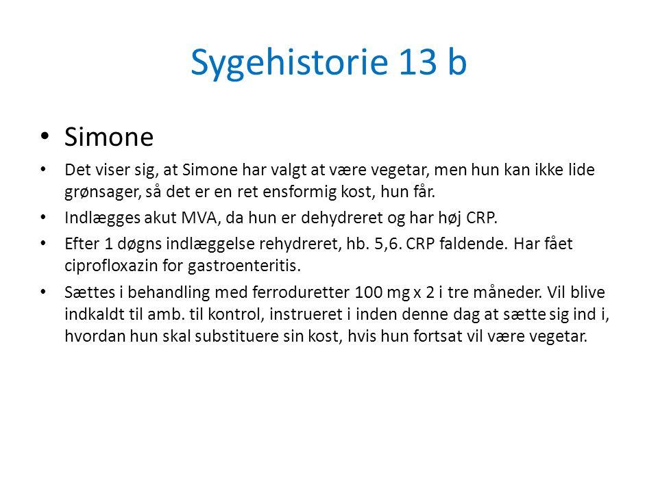 Sygehistorie 13 b Simone.