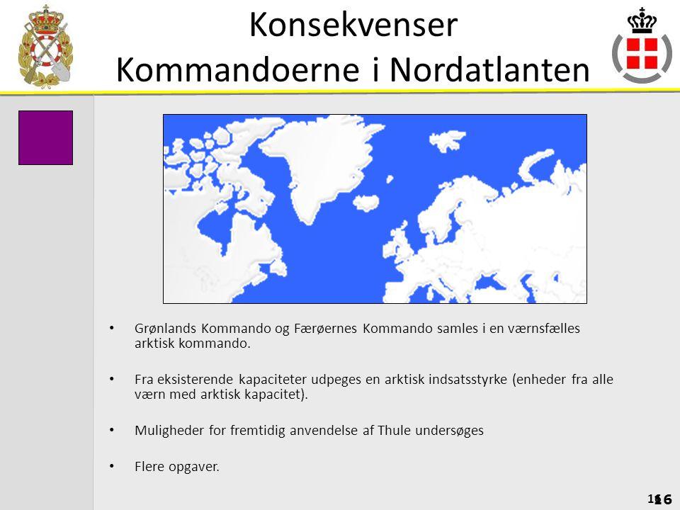 Konsekvenser Kommandoerne i Nordatlanten