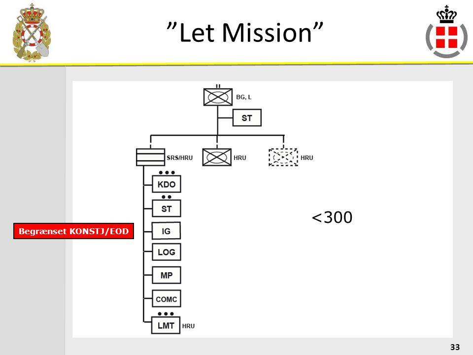 Let Mission <300 Begrænset KONSTJ/EOD