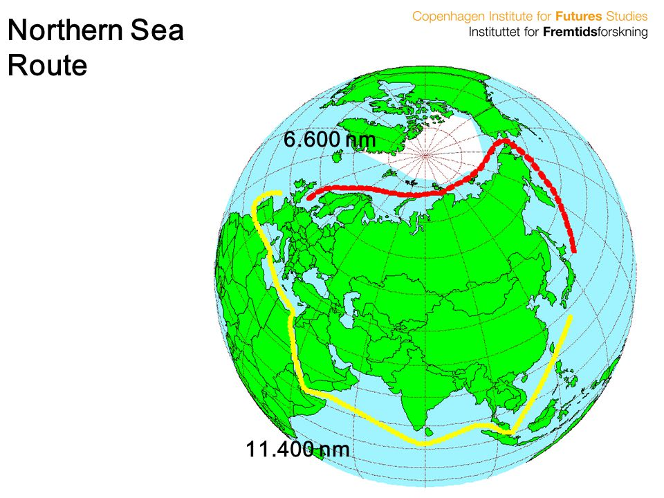Northern Sea Route 6.600 nm 11.400 nm