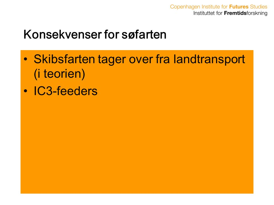 Konsekvenser for søfarten