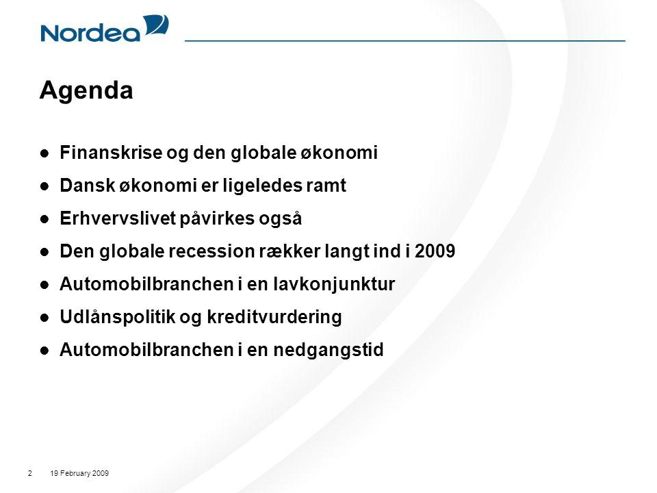 Agenda Finanskrise og den globale økonomi
