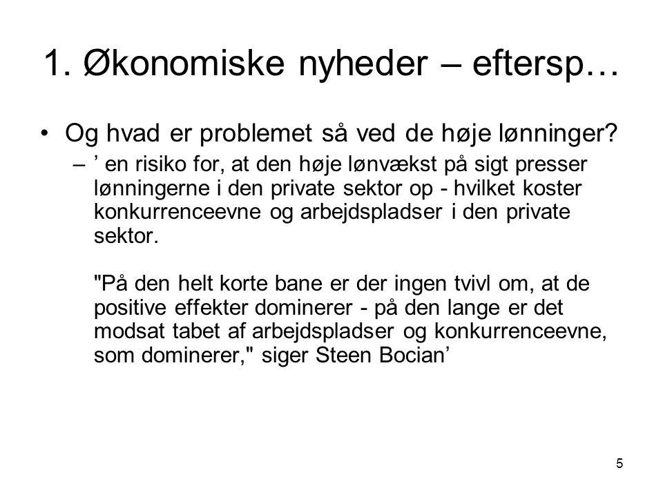 1. Økonomiske nyheder – eftersp…