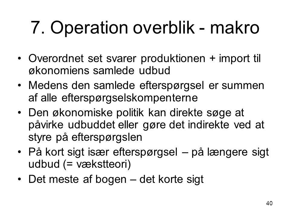 7. Operation overblik - makro