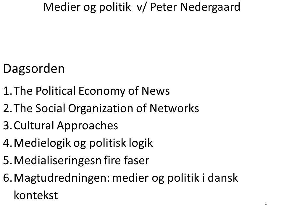 Medier og politik v/ Peter Nedergaard