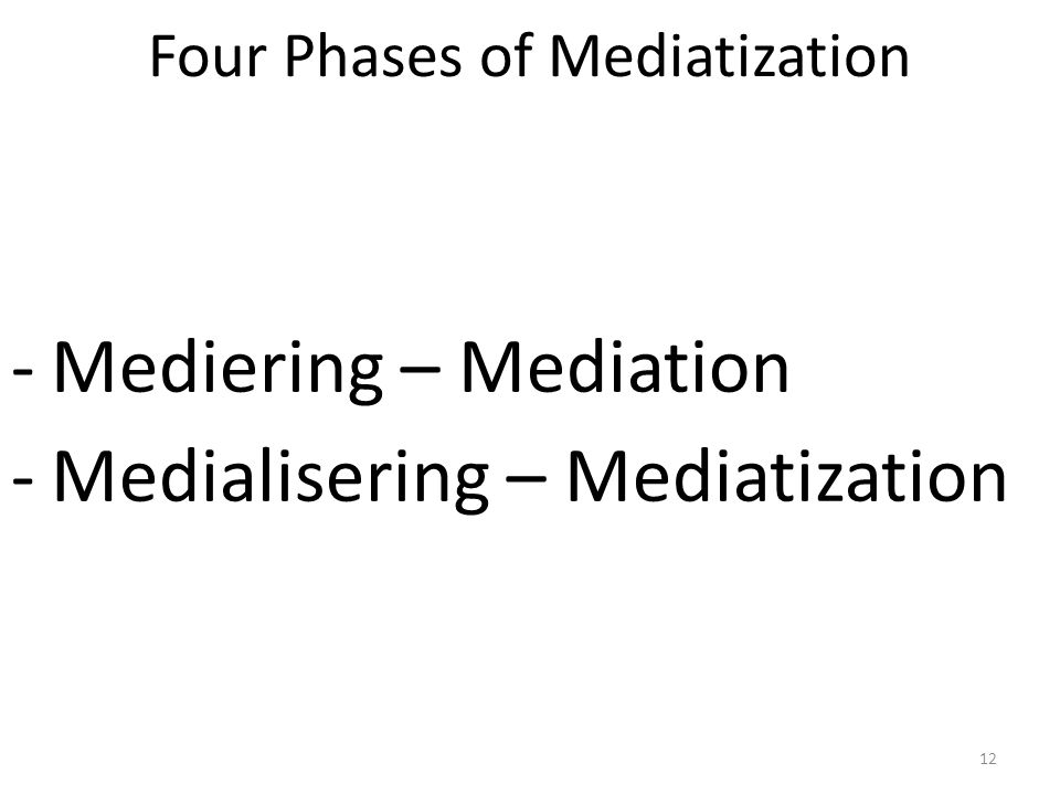 Four Phases of Mediatization