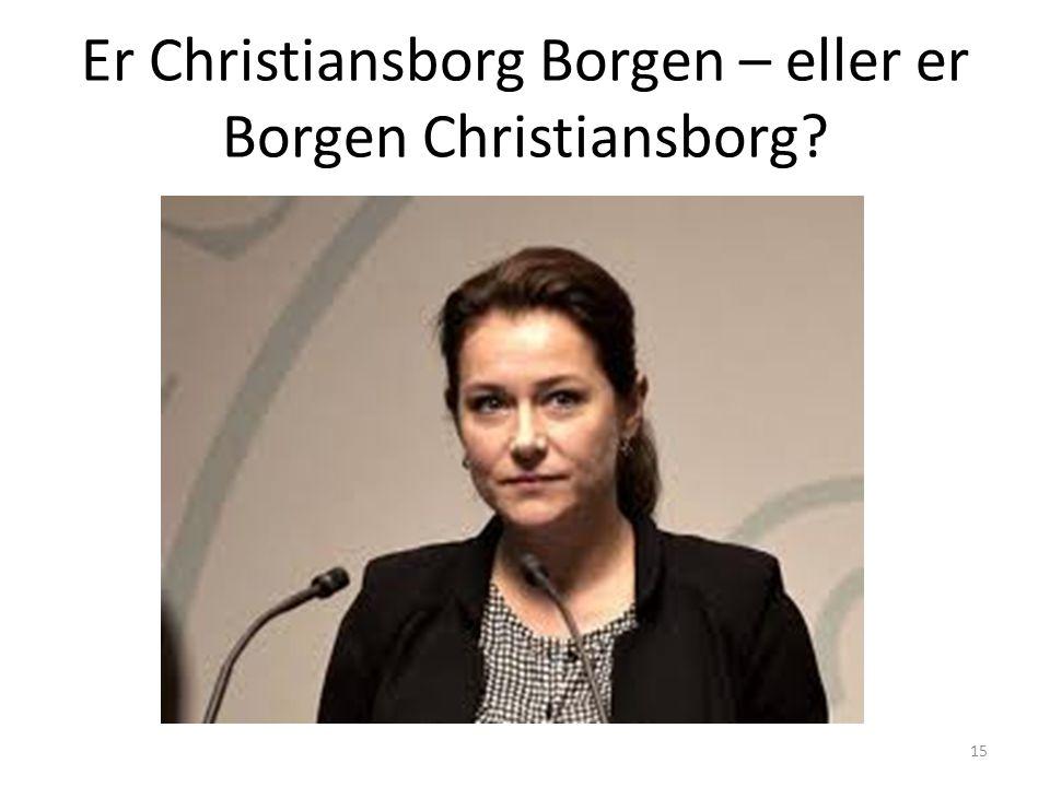 Er Christiansborg Borgen – eller er Borgen Christiansborg