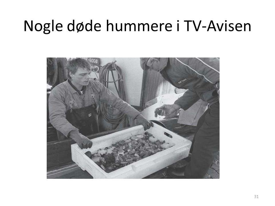 Nogle døde hummere i TV-Avisen