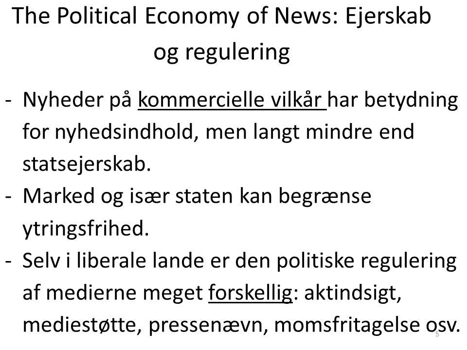 The Political Economy of News: Ejerskab og regulering
