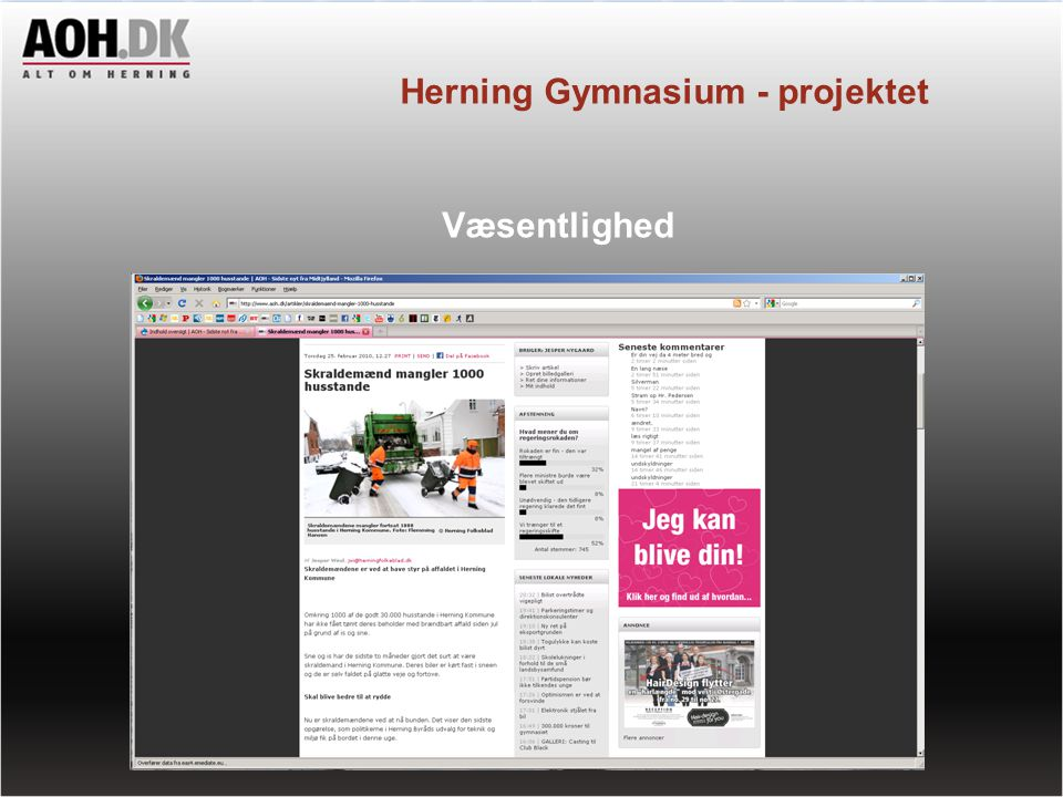 Herning Gymnasium - projektet