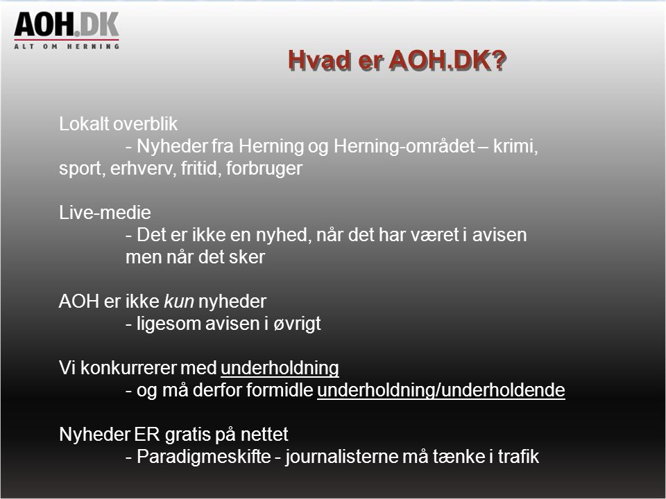 Hvad er AOH.DK Lokalt overblik