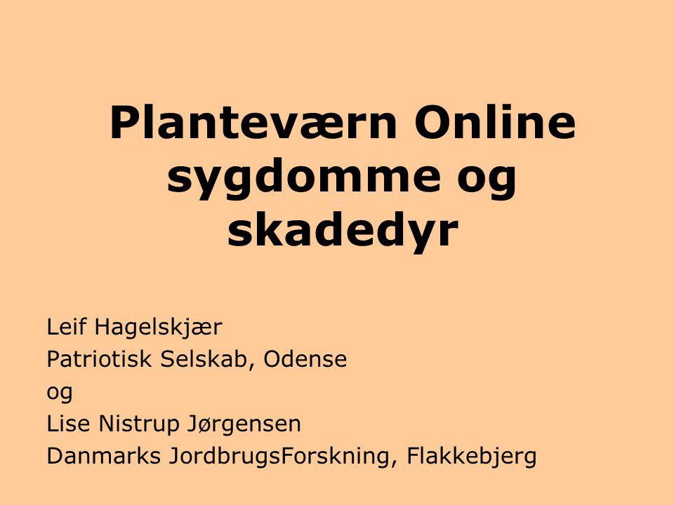 Planteværn Online sygdomme og skadedyr